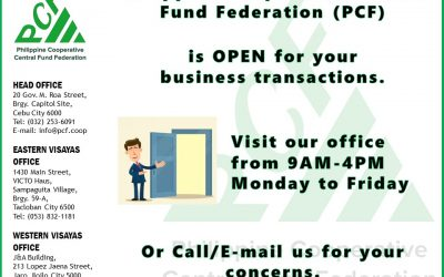 PCF Office is Open