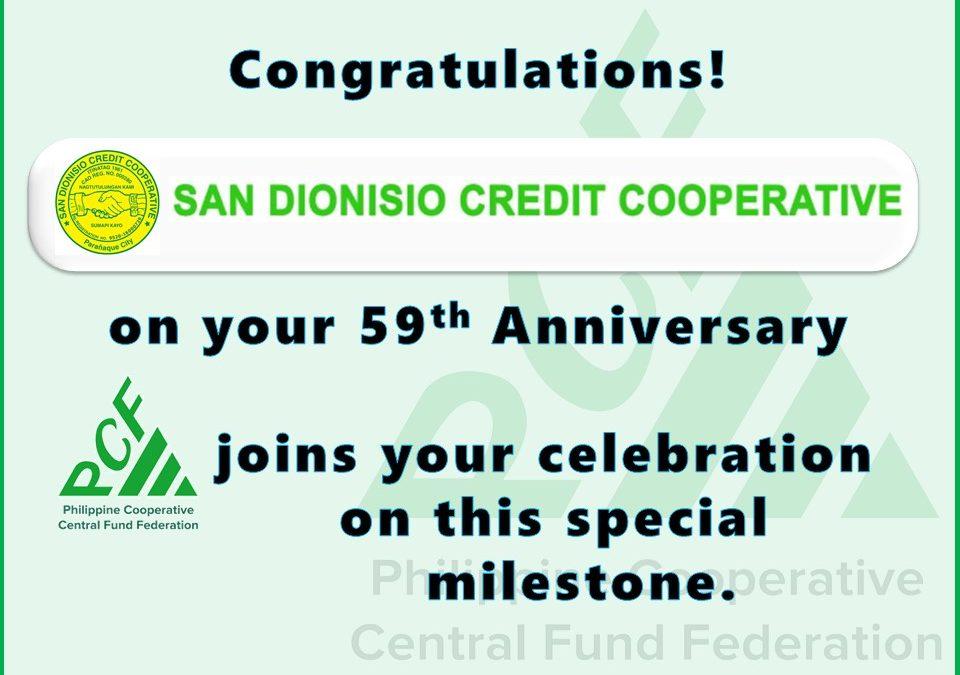 San Dionisio Credit Cooperative 59th Anniversary